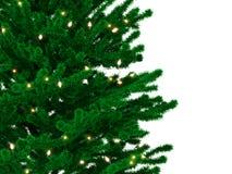 Χριστουγεννιάτικο δέντρο με τις λάμπες φωτός Στοκ φωτογραφία με δικαίωμα ελεύθερης χρήσης