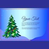Χριστουγεννιάτικο δέντρο με τις λέξεις μισώ τα Χριστούγεννα διάνυσμα κειμένων απεικόνισης πλαισίων Στοκ εικόνες με δικαίωμα ελεύθερης χρήσης