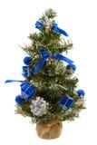 Χριστουγεννιάτικο δέντρο με τις διακοσμήσεις Στοκ εικόνα με δικαίωμα ελεύθερης χρήσης