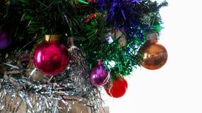 Χριστουγεννιάτικο δέντρο με τις σφαίρες Στοκ φωτογραφίες με δικαίωμα ελεύθερης χρήσης