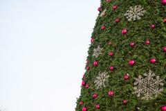 Χριστουγεννιάτικο δέντρο με, χριστουγεννιάτικο δέντρο λεπτομέρειας Στοκ Εικόνες