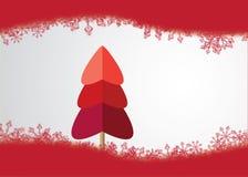 Χριστουγεννιάτικο δέντρο που γίνεται από HeartsSnow παντού Στοκ Εικόνες