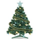 Χριστουγεννιάτικο δέντρο που διακοσμείται με τα παιχνίδια Στοκ φωτογραφία με δικαίωμα ελεύθερης χρήσης
