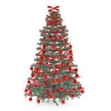 Χριστουγεννιάτικο δέντρο που διακοσμείται με τα παιχνίδια Στοκ φωτογραφίες με δικαίωμα ελεύθερης χρήσης