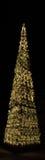 Χριστουγεννιάτικο δέντρο που διακοσμείται με τα φω'τα στη νύχτα στοκ εικόνες