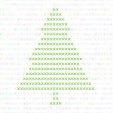 Χριστουγεννιάτικο δέντρο, που κεντιέται με έναν σταυρό Το σχέδιο για την κεντητική διανυσματική απεικόνιση