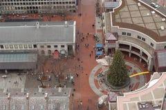 Χριστουγεννιάτικο δέντρο στην αγορά του Quincy, Βοστώνη Στοκ φωτογραφία με δικαίωμα ελεύθερης χρήσης