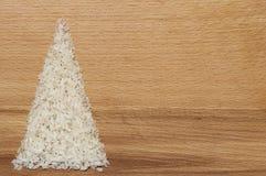 Χριστουγεννιάτικο δέντρο στο ξύλινο υπόβαθρο στοκ φωτογραφία με δικαίωμα ελεύθερης χρήσης