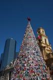 Χριστουγεννιάτικο δέντρο στο Σαντιάγο Στοκ φωτογραφίες με δικαίωμα ελεύθερης χρήσης