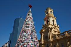 Χριστουγεννιάτικο δέντρο στο Σαντιάγο Στοκ Εικόνες