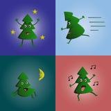 Χριστουγεννιάτικο δέντρο συλλογής δράσης Στοκ φωτογραφίες με δικαίωμα ελεύθερης χρήσης