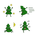 Χριστουγεννιάτικο δέντρο συλλογής δράσης Στοκ Φωτογραφίες