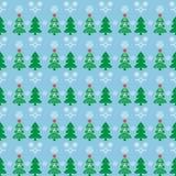 Χριστουγεννιάτικο δέντρο σχεδίων στο χιόνι Στοκ φωτογραφία με δικαίωμα ελεύθερης χρήσης