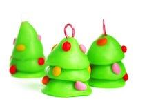 Χριστουγεννιάτικο δέντρο, χειροποίητη διακόσμηση Στοκ φωτογραφίες με δικαίωμα ελεύθερης χρήσης