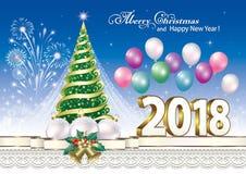 2018 χριστουγεννιάτικο δέντρο Στοκ φωτογραφίες με δικαίωμα ελεύθερης χρήσης