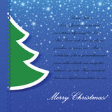 Χριστουγεννιάτικο δέντρο applique Στοκ φωτογραφίες με δικαίωμα ελεύθερης χρήσης