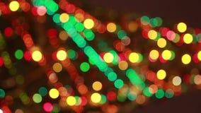 Χριστουγεννιάτικο δέντρο Blured με ζωηρόχρωμο φιλμ μικρού μήκους