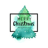 Χριστουγεννιάτικο δέντρο Watercolour Στοκ εικόνες με δικαίωμα ελεύθερης χρήσης