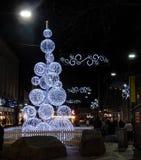 Χριστουγεννιάτικο δέντρο ανάγνωσης Στοκ Φωτογραφίες