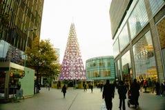 Χριστουγεννιάτικο δέντρο καρδιών του Λίβερπουλ Στοκ Εικόνες