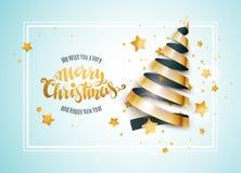 Χριστουγεννιάτικο δέντρο κορδελλών Στοκ φωτογραφία με δικαίωμα ελεύθερης χρήσης