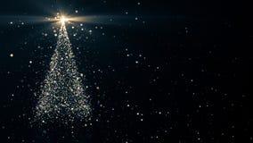 Χριστουγεννιάτικο δέντρο με να λάμψει το φως διανυσματική απεικόνιση
