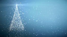 Χριστουγεννιάτικο δέντρο με να λάμψει το φως φιλμ μικρού μήκους
