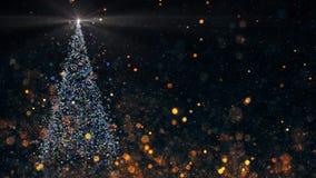 Χριστουγεννιάτικο δέντρο με να λάμψει το φως απεικόνιση αποθεμάτων