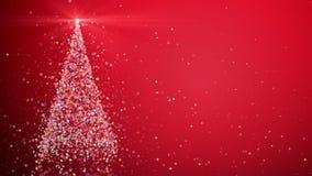 Χριστουγεννιάτικο δέντρο με να λάμψει το φως απόθεμα βίντεο