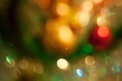 Χριστουγεννιάτικο δέντρο με την επίδραση θαμπάδων Στοκ εικόνες με δικαίωμα ελεύθερης χρήσης