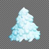 Χριστουγεννιάτικο δέντρο νεράιδων Fir-tree καλύπτεται εντελώς με το χιόνι διάνυσμα ελεύθερη απεικόνιση δικαιώματος