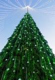Χριστουγεννιάτικο δέντρο που εγκαθίσταται στην πλατεία Vilnius στην εμφάνιση Στοκ εικόνα με δικαίωμα ελεύθερης χρήσης