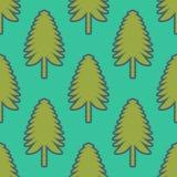 Χριστουγεννιάτικο δέντρο, πράσινο σχέδιο έλατου στο πράσινο υπόβαθρο απεικόνιση αποθεμάτων