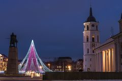 Χριστουγεννιάτικο δέντρο σε Vilnius στοκ εικόνα με δικαίωμα ελεύθερης χρήσης
