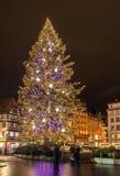 Χριστουγεννιάτικο δέντρο στο μέρος Kleber στο Στρασβούργο Στοκ Εικόνα
