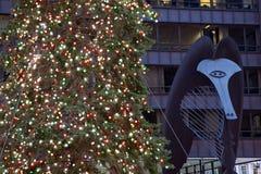 Χριστουγεννιάτικο δέντρο στο Σικάγο στοκ φωτογραφίες