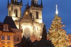 Χριστουγεννιάτικο δέντρο της Πράγας στοκ εικόνες με δικαίωμα ελεύθερης χρήσης