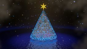 Χριστουγεννιάτικο δέντρο - τρισδιάστατο δώστε στοκ φωτογραφία με δικαίωμα ελεύθερης χρήσης