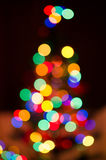 Χριστουγεννιάτικο δέντρο Bokeh Στοκ εικόνα με δικαίωμα ελεύθερης χρήσης