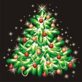 χριστουγεννιάτικο δέντρ&o Στοκ Φωτογραφίες