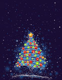 χριστουγεννιάτικο δέντρ&o απεικόνιση αποθεμάτων