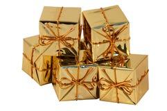 χριστουγεννιάτικο δώρο κιβωτίων Στοκ Εικόνες