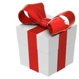 Χριστουγεννιάτικο δώρο (κιβώτιο) με το τόξο Στοκ εικόνες με δικαίωμα ελεύθερης χρήσης