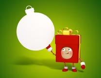 Χριστουγεννιάτικο δώρο με το χαρτόνι μηνυμάτων Στοκ εικόνα με δικαίωμα ελεύθερης χρήσης