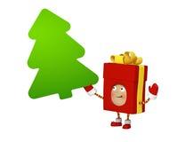 Χριστουγεννιάτικο δώρο με το χαρτόνι μηνυμάτων Στοκ Εικόνα