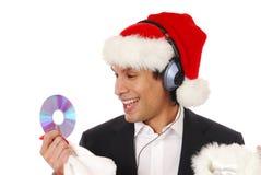 χριστουγεννιάτικο δώρο Cd στοκ εικόνα με δικαίωμα ελεύθερης χρήσης