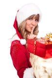 χριστουγεννιάτικο δώρο &m Στοκ Εικόνες