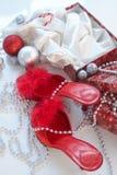 χριστουγεννιάτικο δώρο προκλητικό Στοκ φωτογραφία με δικαίωμα ελεύθερης χρήσης