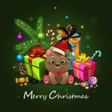 χριστουγεννιάτικο δώρο weihnachtspakete απεικόνιση αποθεμάτων