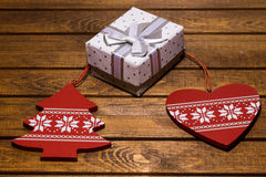 χριστουγεννιάτικο δώρο weihnachtspakete Στοκ Εικόνα